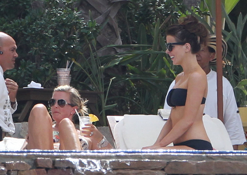 Kate Beckinsale Brings Out a Black Bikini During Her Spring Break Getaway