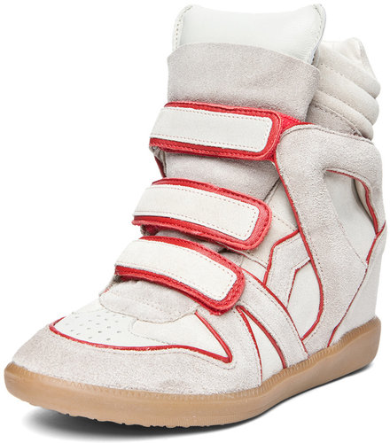 Isabel Marant Wila Sneaker in Rouge