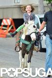 Seraphina Affleck rode a pony.
