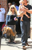 Jessica Simpson Grabs Brunch With Eric and Little Maxwell