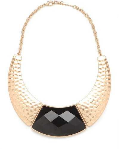 Gold Crescent Onyx Collar