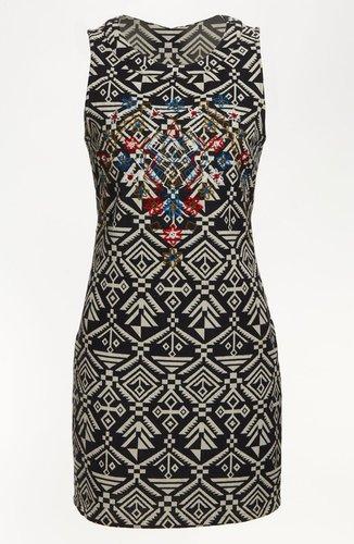 ASTR Tribal Print Body-Con Dress