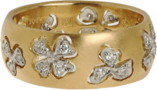 Cathy Waterman Diamond Floating Lights Wildflower Ring