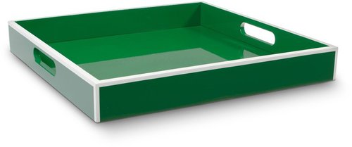 Lacquer White Trim Serving Tray
