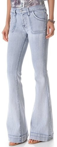 J brand Retro Patched Pocket Flare Jeans