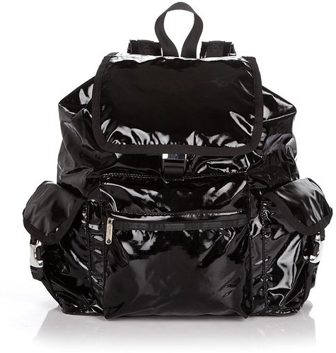 LeSportsac Voyager Backpack in Black Shine