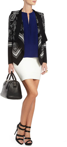 Abree Relaxed Scarf-Print Jacket