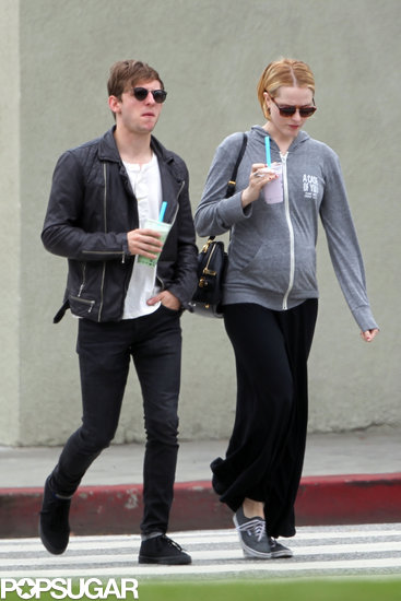 Evan Rachel Wood and Jamie Bell sipped on cold drinks in LA.