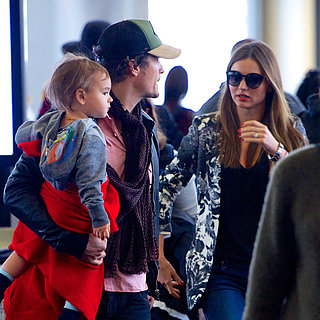 Miranda Kerr, Orlando Bloom, and Flynn at LAX | Photos