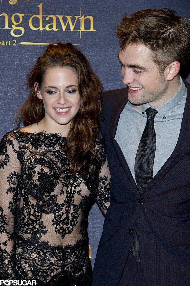 Robert Pattinson had eyes glued on his girlfriend, Kristen Stewart, during the Breaking Dawn Part 2 premiere in London in November 2012.
