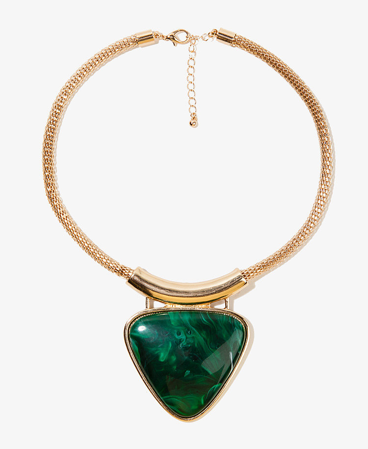 Forever 21's stone triangle necklace ($9) looks ways more luxe than its budget-friendly price tag.