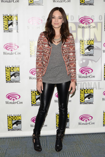 Kristin Kreuk added a jolt of print to her WonderCon look via this Maison Scotch Aztec-print tweed blazer ($160).