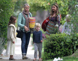 Naomi Watts took her sons, Sasha and Kai, on an Easter egg hunt in LA on Sunday.