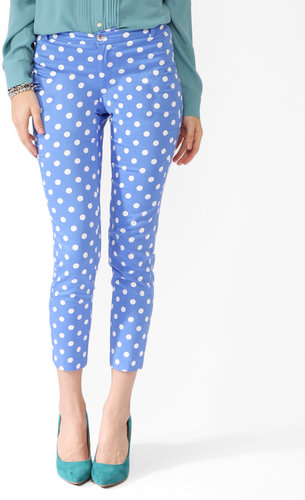 FOREVER 21 Polka Dot Ankle Pants