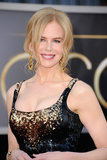 Nicole Kidman's mussy updo is sexy but stylish and bridal-perfect.