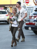 Chris Hemsworth accompanied wife Elsa Pataky and daughter India to Whole Foods in LA.