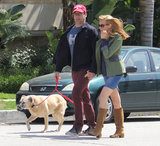 Jon Hamm and Jennifer Westfeldt took a walk in LA on Tuesday.