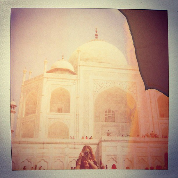 Lauren Conrad got artsy in front of the Taj Majal.  Source: Instagram user laurenconrad
