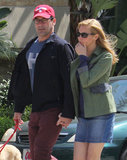Jon Hamm held his girlfriend Jennifer Westfeldt's hand in LA.
