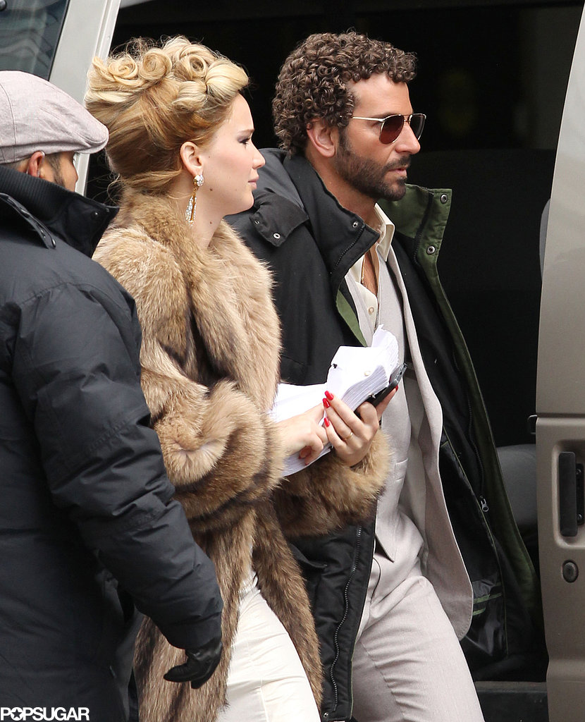 Jennifer Lawerence and Bradley Cooper hit their Boston set together.