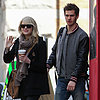 Emma Stone and Andrew Garfield in NYC For Spider-Man 2