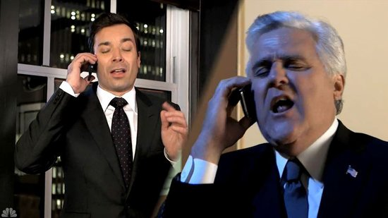 Video: Jay Leno and Jimmy Fallon Sing West Side Story, Emma Watson Whacks Seth Rogen With an Ax, and More!