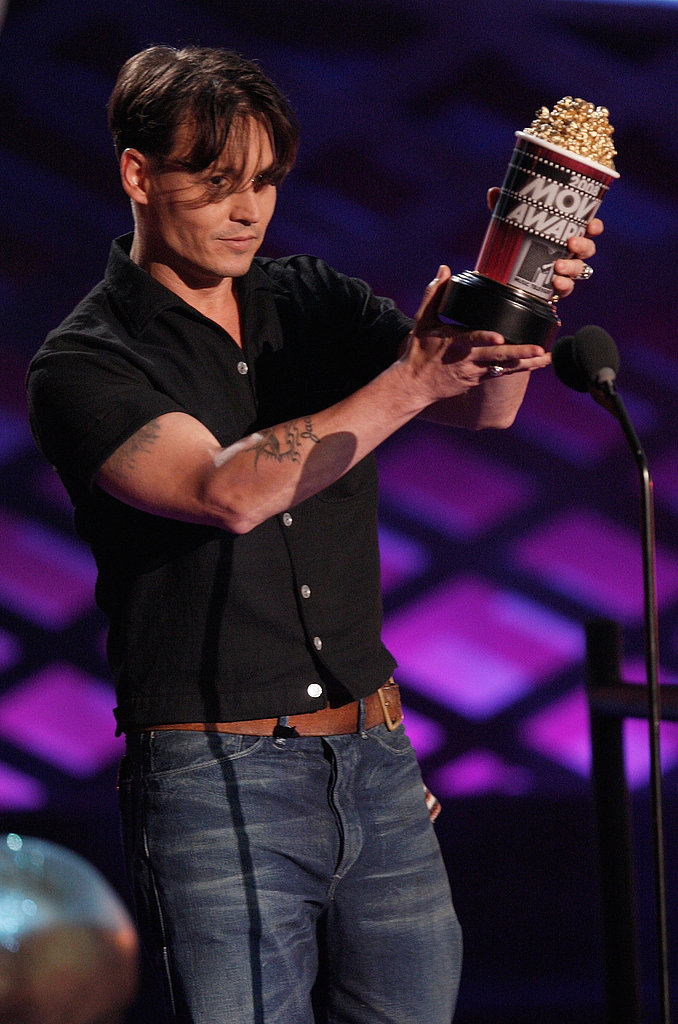 Johnny Depp came to the 2008 awards to accept his trophy for best villain in Sweeney Todd.
