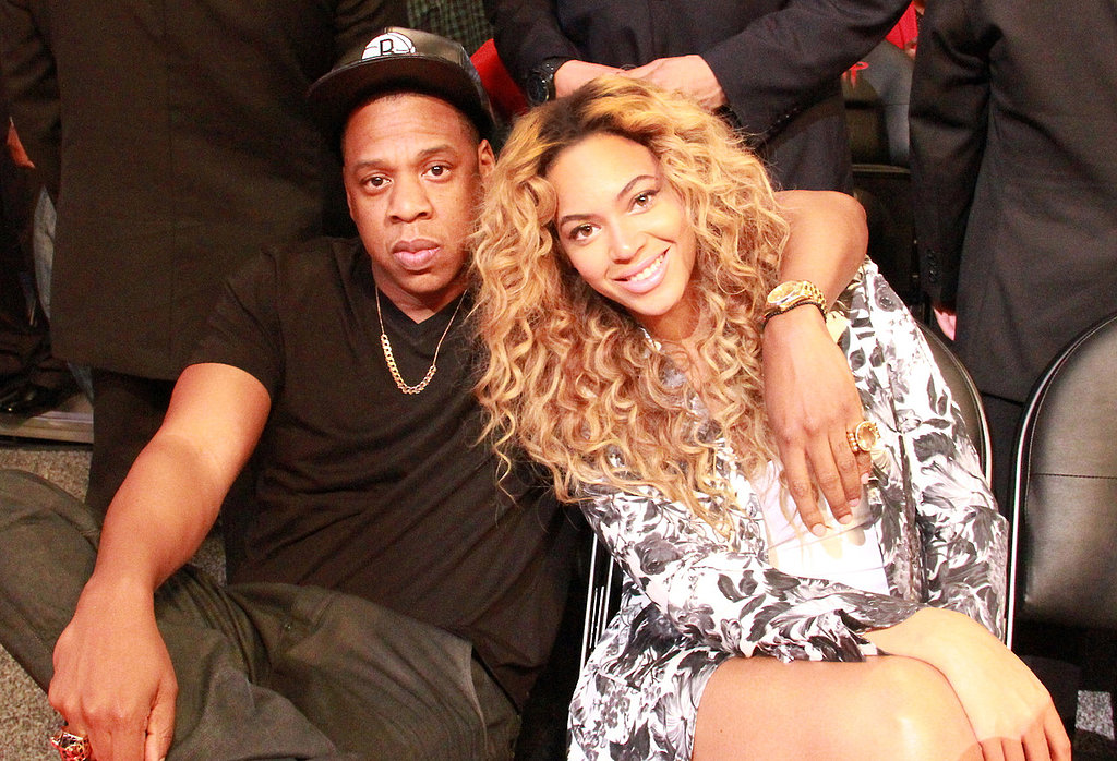 They cuddled up courtside during the NBA All-Star Game in February 2013. Source: Tumblr user Beyoncé