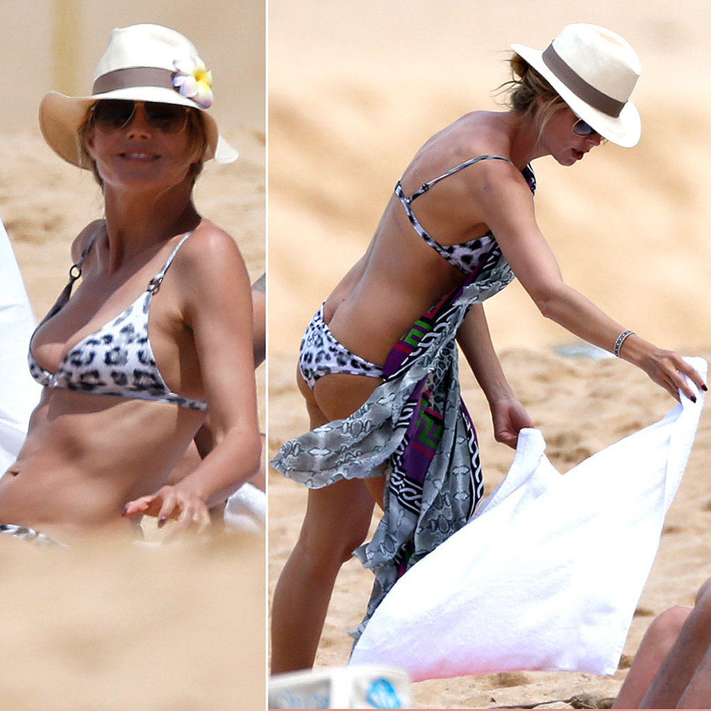 Heidi Klum Gets Wild in a Skimpy Bikini on the Beach