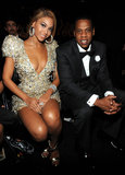 At the 2010 Grammy Awards, all eyes were on Beyoncé in her plunging metallic Armani Privé minidress, but Jay-Z looked pretty good in his tuxedo, too.