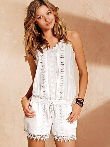 Embroidered Cotton Romper
