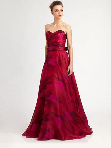 Theia Strapless Silk Organza Ball Gown