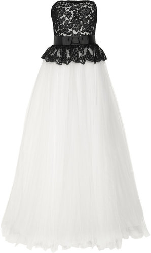 Notte by Marchesa Lace and tulle gown