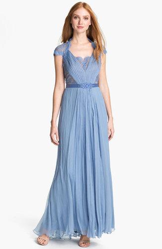 Tadashi Shoji Embellished Lace & Silk Chiffon Gown