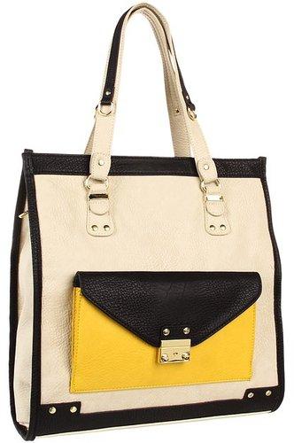 olivia + joy - Tailor Tote (Cream Multi) - Bags and Luggage