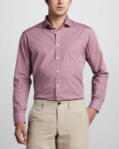 Billy Reid Gingham Sport Shirt