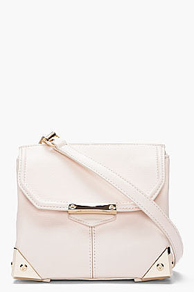 ALEXANDER WANG Small Champagne Leather Marion Prisma Shoulder Bag