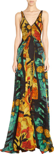 Maiyet Printed V Gown