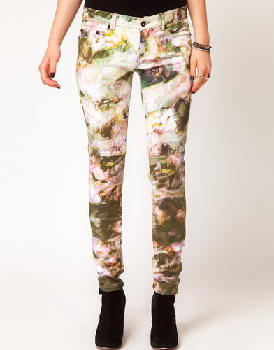 Religion Jeans In Muted Rose Print