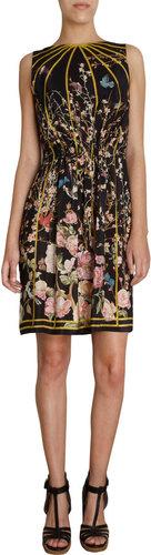 Thakoon Floral Bird Print Sleeveless Dress