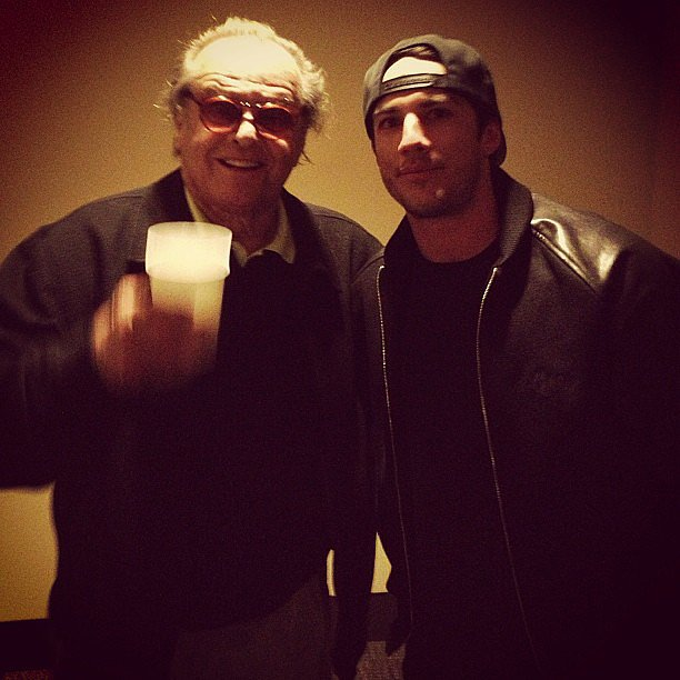 The Vampire Diaries' Michael Trevino and Jack Nicholson became fast friends. Source: Instagram user michael_trevino