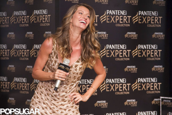 Gisele Bündchen spoke at the Pantene Expert promotion in her native Brazil on Wednesday.