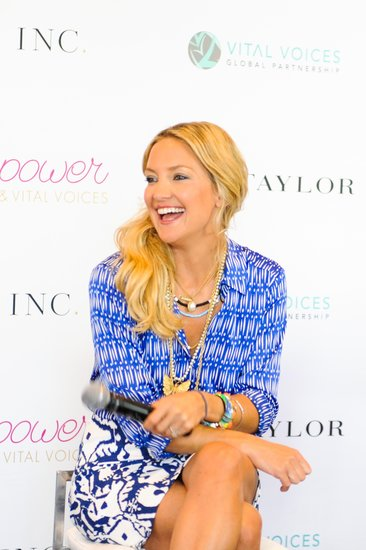 Kate Hudson gave her first motivational speech at the Vital Voices Leadership Forum.  Source: Carly Otness/BFAnyc.com