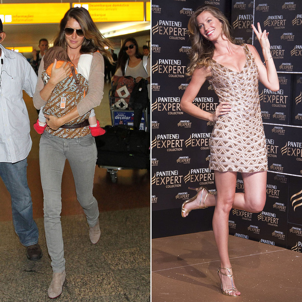 Gisele Brings Baby Vivian to Brazil to Promote Pantene Expert