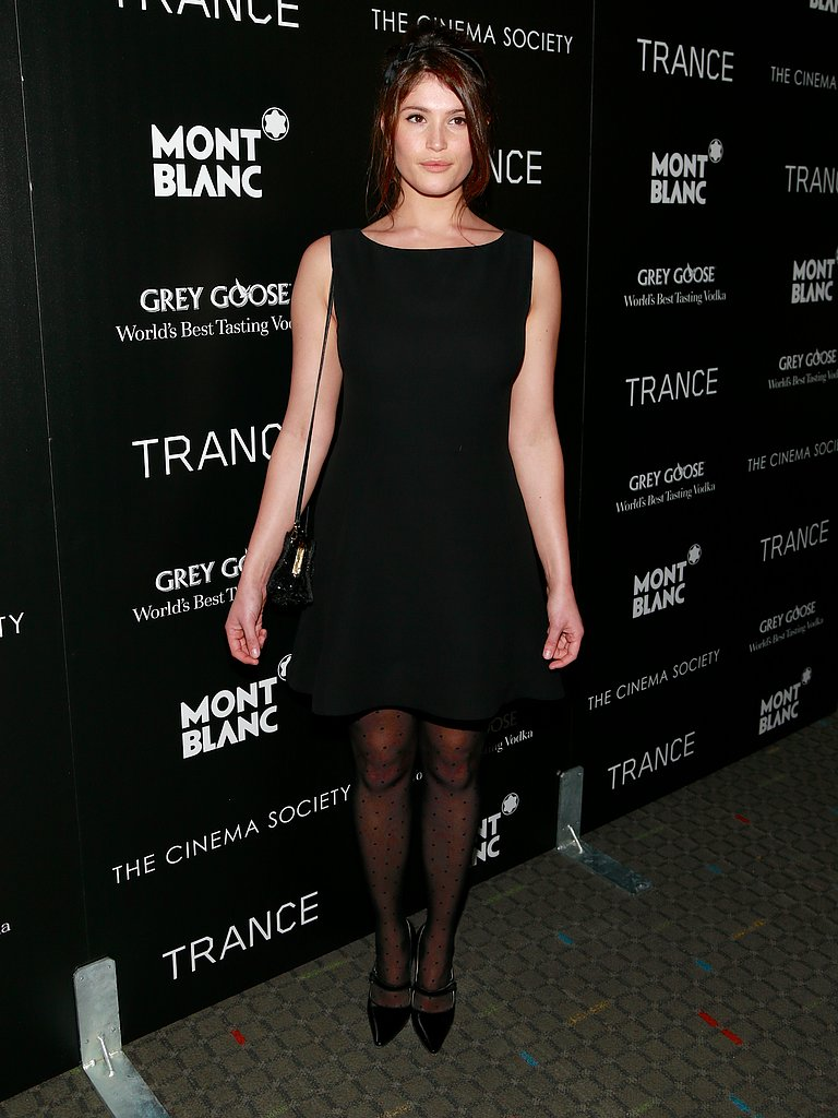 Gemma Arterton wore a simple black dress.