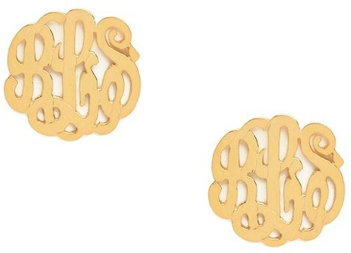 Mini Monogram Studs (Ships 4 Weeks from Order Date)