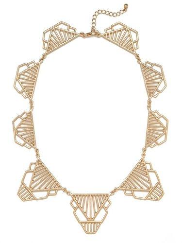Gold Cleo Deco Collar