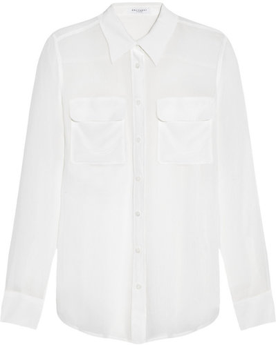 Equipment Slim Signature crinkled silk-chiffon shirt