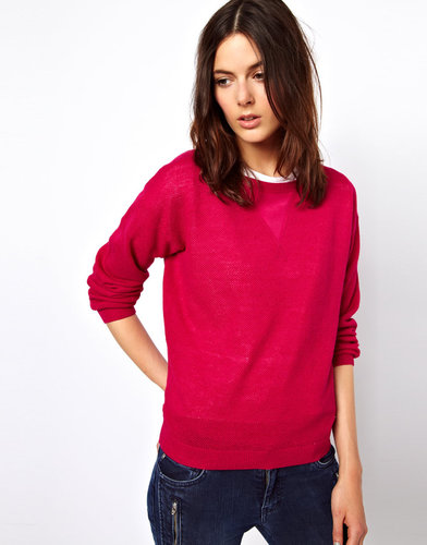 Vanessa Bruno Athé Vanessa Bruno Athé Sporty Linen Knit with Silk Insert