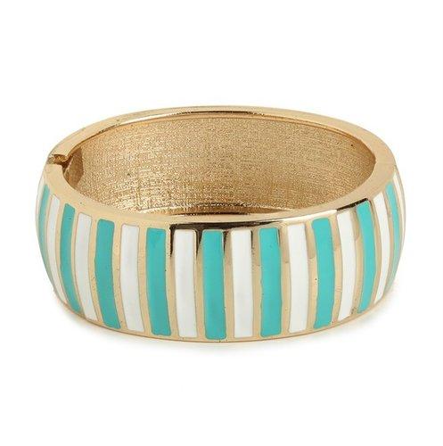 Mint Stripe Bangle